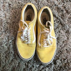 Yellow old school vans